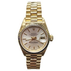 Rolex Ladies President Datejust 69178 Champagne Dial 18 Karat Yellow Gold
