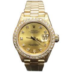Rolex Ladies President Datejust 69178 Diamond Bezel and Bezel 18 Karat Gold