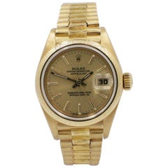 Rolex Ladies President Datejust 69278 18 Karat Yellow Gold