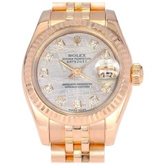 Rolex Ladies Rose Gold Datejust Wristwatch