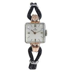 Rolex Ladies Rose Gold Stainless Steel Art Deco Manual Wind Watch Ref 3911