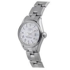 Rolex Ladies Stainless Steel Date White Roman Ref. 6516