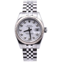 Rolex Ladies Stainless Steel Datejust Diamond Dial Watch Ref. 179174