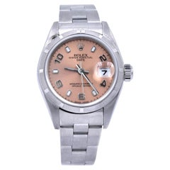 Rolex Ladies Stainless Steel Datejust Peach Dial Watch Ref. 79190