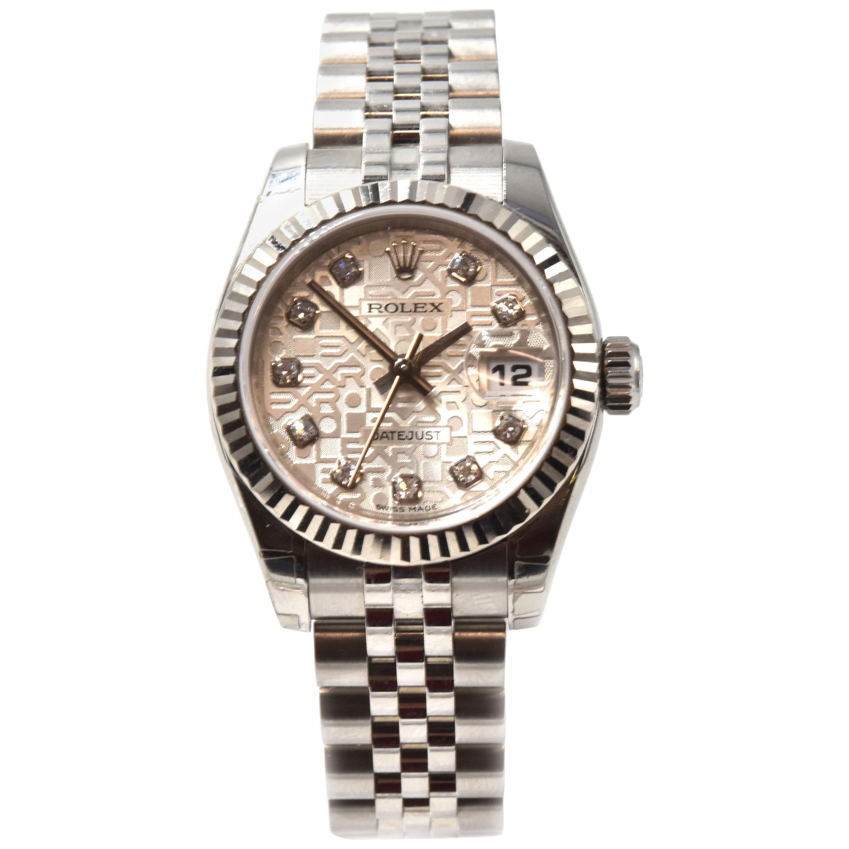 Wristwatch Ref Ladies Steel Stainless Datejust Diamond 179174 Rolex BoQWrxCde