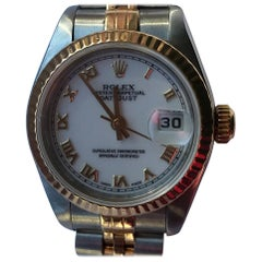 Rolex Ladies Stainless Steel Oyster Perpetual Datejust Automatic Wristwatch