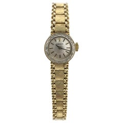 Rolex Ladies Vintage Yellow Gold Mechanical Bracelet Wristwatch