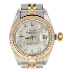 Rolex Ladies Watch Factory MOP Diamond Dial 79173 Oyster Datejust Serviced