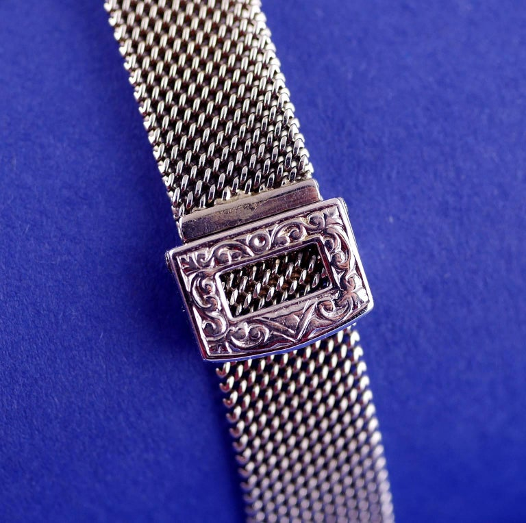 Rolex Ladies White Gold Diamond Chronometer Art Deco Wristwatch, 1926 For Sale 4