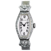 Rolex Ladies White Gold Diamond Chronometer Art Deco Wristwatch, 1926