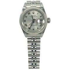 Rolex Ladies white gold Stainless Steel Datejust Automatic wristwatch Ref 79174