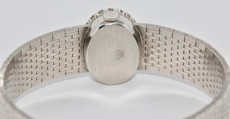 Women's Rolex Ladies Wristwatch, 18 Karat White Gold, with Diamonds, Manual Wind For Sale