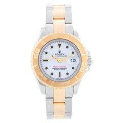 Rolex Ladies Yacht-Master 2-Tone Watch 169623 White Dial