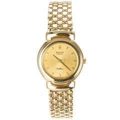 Rolex Ladies yellow Gold Cellini Cellissima Quartz Wristwatch Ref 6621 1