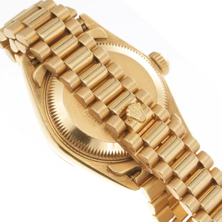 Women's Rolex Ladies Yellow Gold Diamond Dial Datejust Wristwatch Ref 69178 For Sale