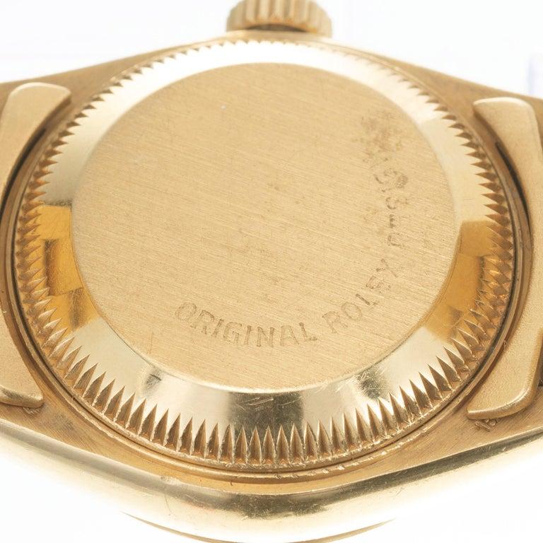 Rolex Ladies Yellow Gold Diamond Dial Datejust Wristwatch Ref 69178 For Sale 1