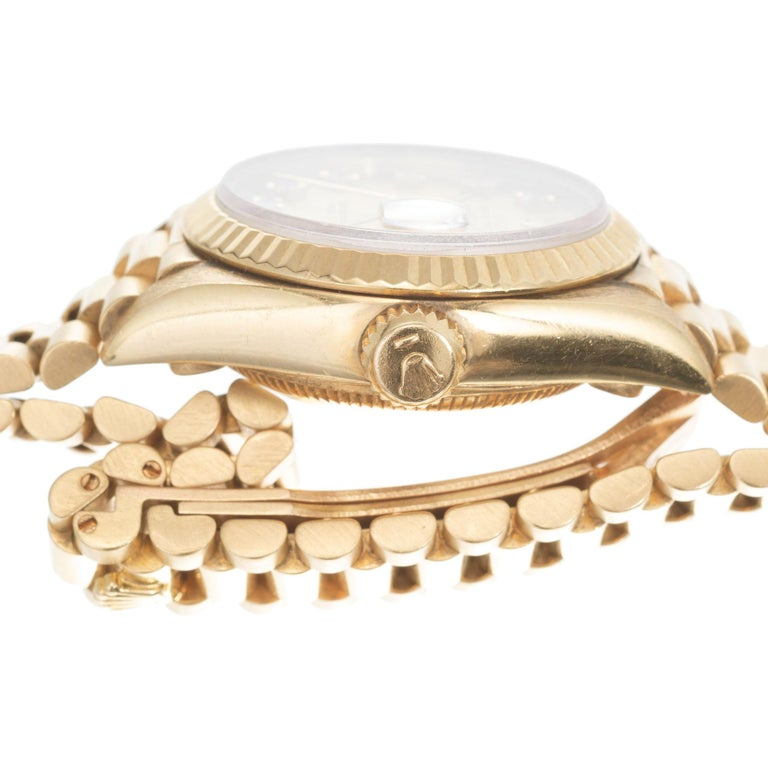 Rolex Ladies Yellow Gold Diamond Dial Datejust Wristwatch Ref 69178 For Sale 2