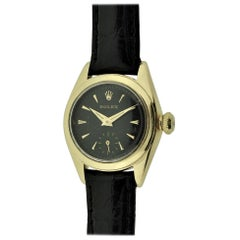Rolex Ladies Yellow Gold Early Perpetual Winding 'Bubble Back' Watch, circa 1949