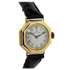 Rolex Ladies Yellow Gold Enamel Inlay Octagonal Manual Watch