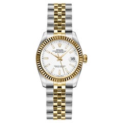 Rolex Lady-Datejust 26 White Dial Jubilee Bracelet Watch 18 Kt Gold & Stainless