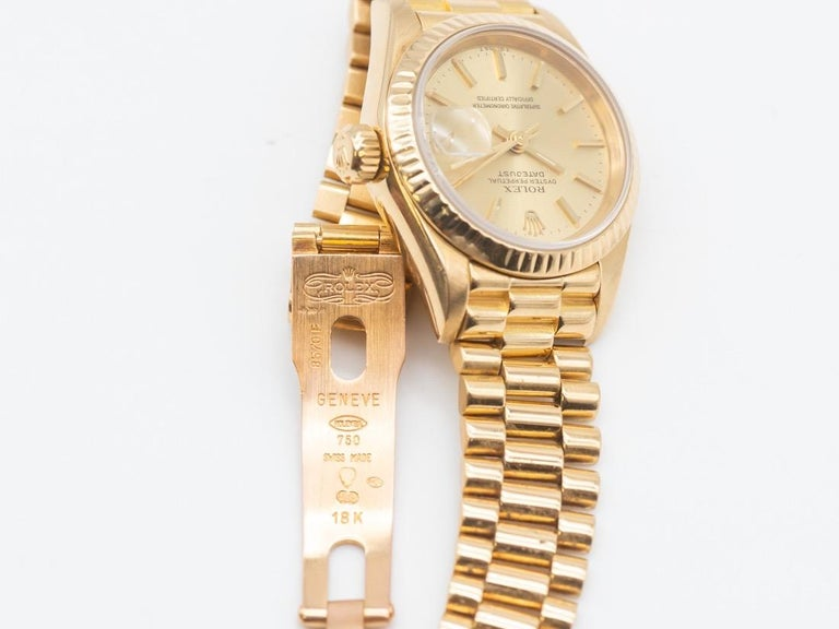 Contemporary Rolex Lady-Datejust 69173 Gold For Sale