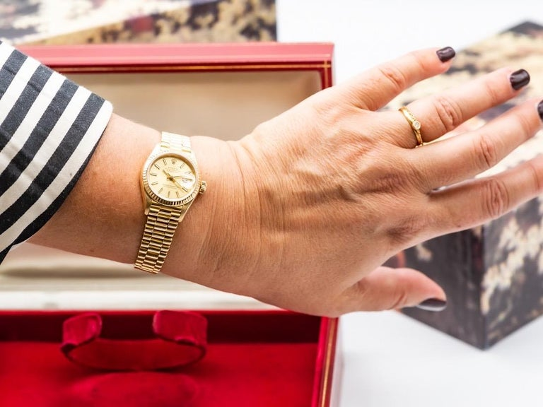 Women's Rolex Lady-Datejust 69173 Gold For Sale