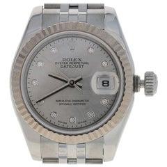 Rolex Lady-Datejust Diamond Watch Stainless & 18k Gold Automatic 2Yr Wnty 179174