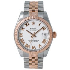 Rolex Lady Datejust Jubilee 178271 Automatic Watch with Papers 18 Karat Rose