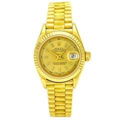Rolex Lady Datejust President 18 Karat Yellow Gold Watch 69278