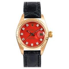 Rolex Lady Datejust Ref. #6917 with Orange Diamond Stella Dial