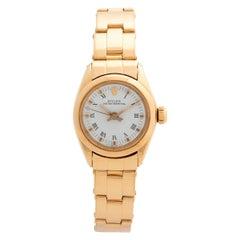 Rolex Lady Oyster Perpetual Ref 6718, 18K Yellow Gold, Excellent Condition