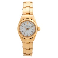 Rolex Lady Oyster Perpetual Ref 6718, 18k Yellow Gold, Excellent Condition, Rare