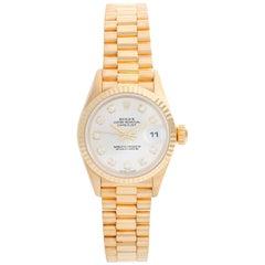 Rolex Lady President 18 Karat Yellow Gold Ladies Watch 79178