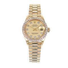Rolex Lady's Yellow Gold Diamond Datejust Wristwatch Ref 69138