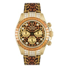 Rolex Leopard Daytona Yellow Gold Cognac Sapphires 116598SACO