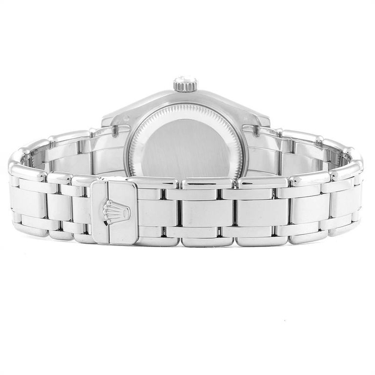 Rolex Masterpiece Pearlmaster White Gold Roman Dial Diamond Watch 80319 For Sale 5