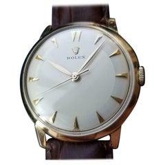 Rolex Men's 14k Gold Cal.1215 Hand-Wind Dress Watch, c.1960s Swiss Vintage LV968