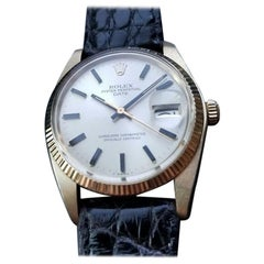 ROLEX Men's 14K Gold Oyster Perpetual Date 1503 Automatic, c.1978 Vintage LV688