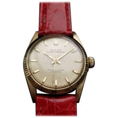 Rolex Men's 14k Solid Gold 6551 Oyster Perpetual Automatic c.1956 Swiss LV925RED