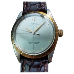 """ROLEX Mens 14K & ss Oyster ref.1008 """"Zephyr"""" Automatic c1966 Swiss Vintage LV772"""