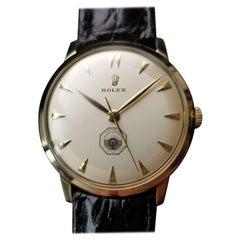 Rolex Mens 14K Yellow Gold Optimist International c.1960 Vintage Swiss Lux LV481