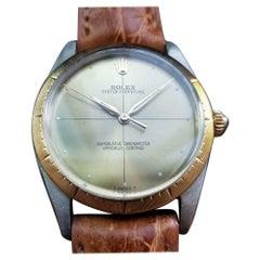 "Rolex Men's 18K & ss Oyster Ref.1008 ""Zephyr"" Automatic, c.1960s Swiss LV742TAN"