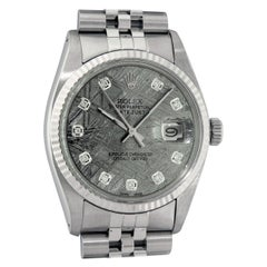 Rolex Men's Datejust Meteorite Diamond Dial Wristwatch with Rolex Box, Appraisal