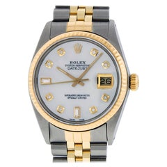 Rolex Men's Datejust SS / Yellow Gold MOP Diamond Watch