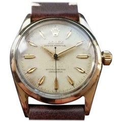 ROLEX Men's Gold-Cap Oyster Perpetual 6634 Automatic, c.1957 Swiss Vintage LV896