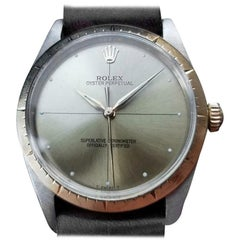 """Rolex Mens Oyster Perpetual 1008 """"Zephyr"""" 18K & SS Automatic, c.1966 Swiss LV742"""