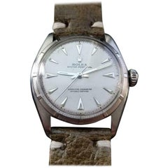 ROLEX Men's Oyster Perpetual 6085 Bubbleback Automatic circa 1951 Swiss LV969