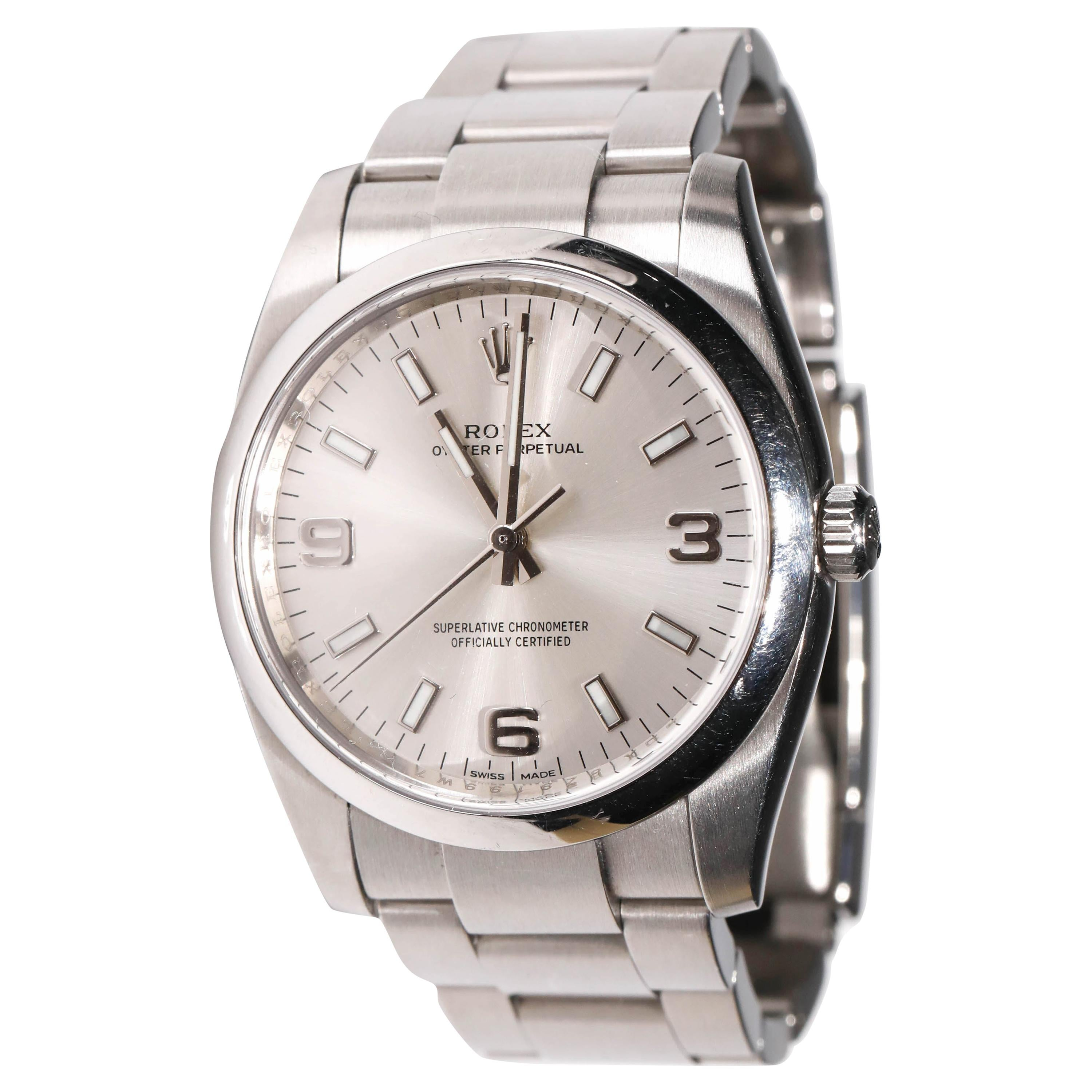 Rolex Men's Oyster Perpetual Stainless Steel Automatic Grey Slate Dial Watch