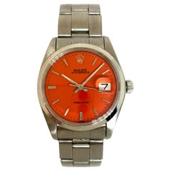 Rolex Men's Oysterdate Precision Orange Watch 6694