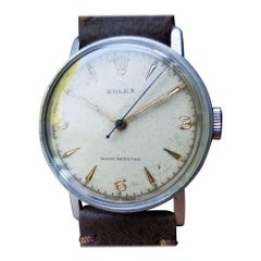 Rolex Men's Rare Manual Hand-Wind 3742 Military Watch circa 1938 Swiss MS101